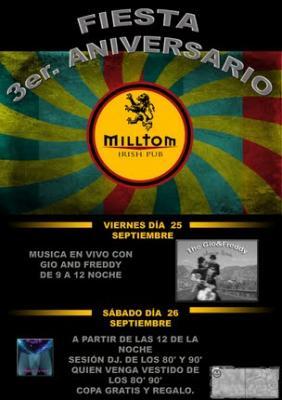 Milltom Pub (Elche), viernes 25 septiembre