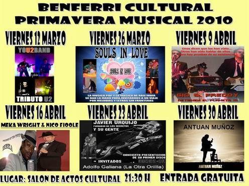 Viernes 9 en Benferri y domingo 11 en Pinoso