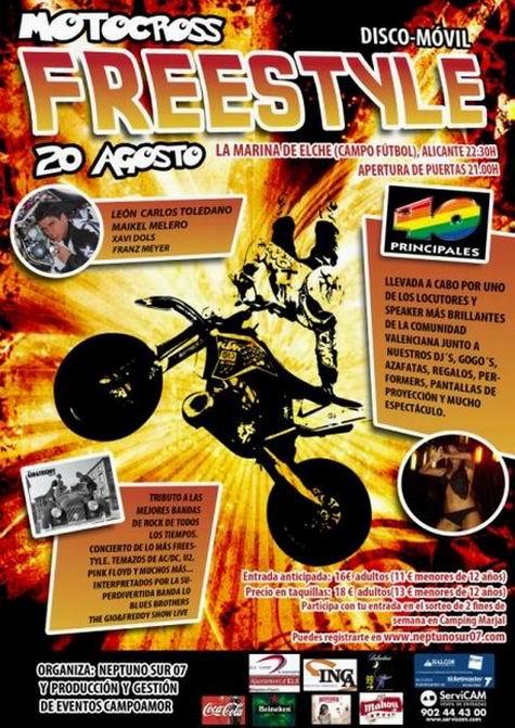 Motocross Freestyle el viernes 20 en La Marina + sabado 21 en Letur