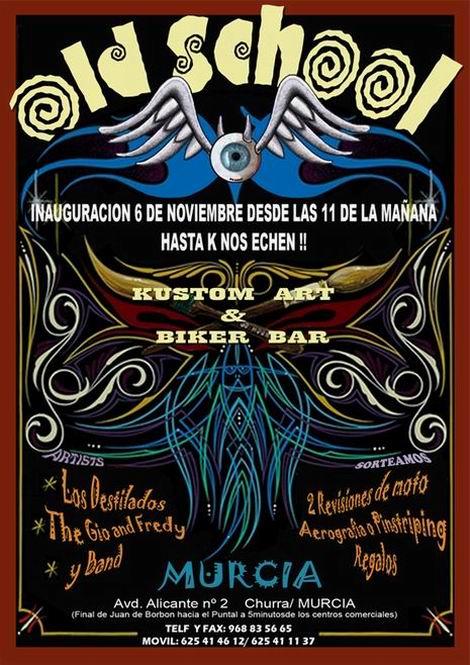 Inauguración de Old School en Murcia el sábado 6
